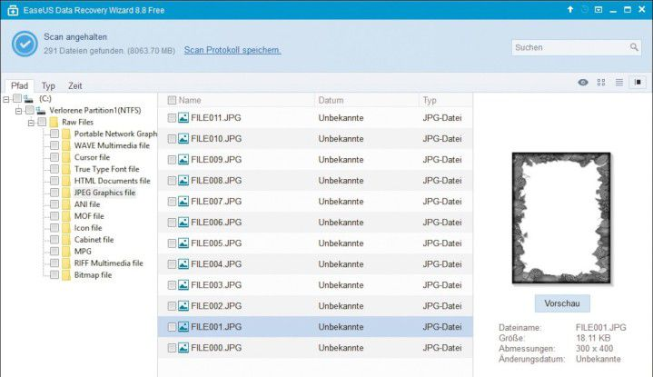 Das kostenlose Tool Easeus Data Recovery Wizard Free hilft bei der Wiederherstellung gelöschter und längst verloren geglaubter Daten.
