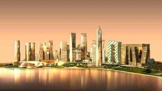 Ohne Altlasten: Die Gujarat International Finance Tec City (GIFT) wird komplett neu errichtet.