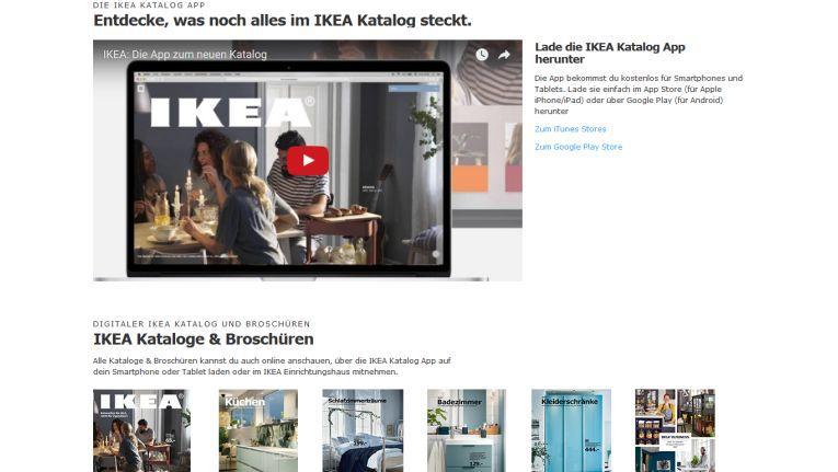 Ikea arbeitet in seiner Katalog-App ebenfalls mit Augmented Reality.
