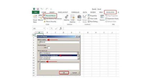 Beschreibung – Legen Sie hier bei Bedarf eine Beschreibung der Makro-Funktion fest.