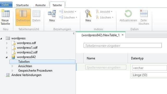 In WordPress sollten Sie möglichst auch angepasste Tabellennamen verwenden.
