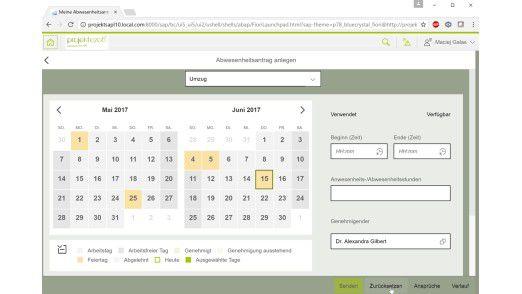 SAP Fiori App Abwesenheitsantrag