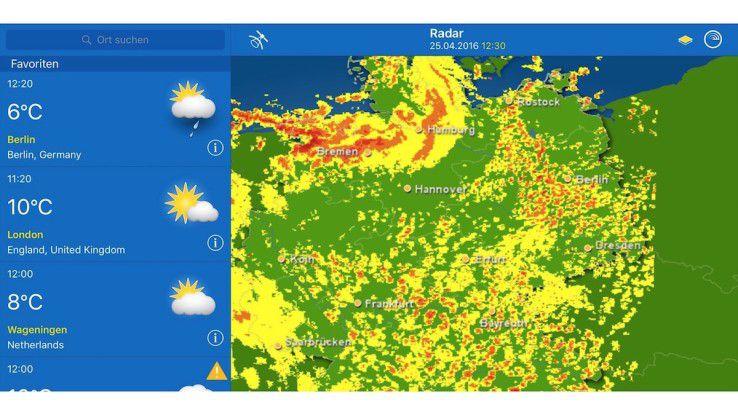 Die besten Wetter-Apps für das iPad.
