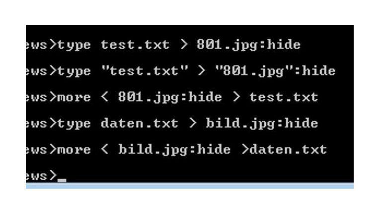 Sie können mit Bordmitteln Dateien in Windows verstecken