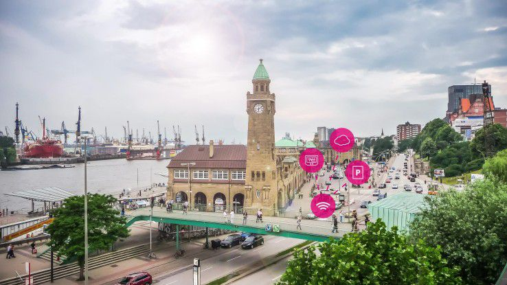 Weniger Abgase, Verkehrslärm und Staus erhofft sich die Stadt Hamburg von der Einführung eines intelligenten Parksystems.