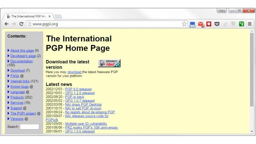 In die Jahre gekommen. Den freien Code von Phil Zimmerman gibt es zwar noch in Form von PGP 8, das letzte Update dazu gab es aber im Jahr 2002.