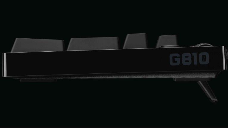 Logitech G810 Orion Spectrum: Die Tastatur arbeitet mit Romer-G-Switch.
