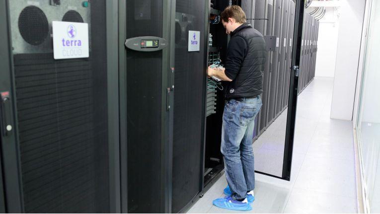 """Das """"Terra Cloud""""-Rechenzentrum der Wortmann AG bietet Cloud-Services aus Deutschland an."""