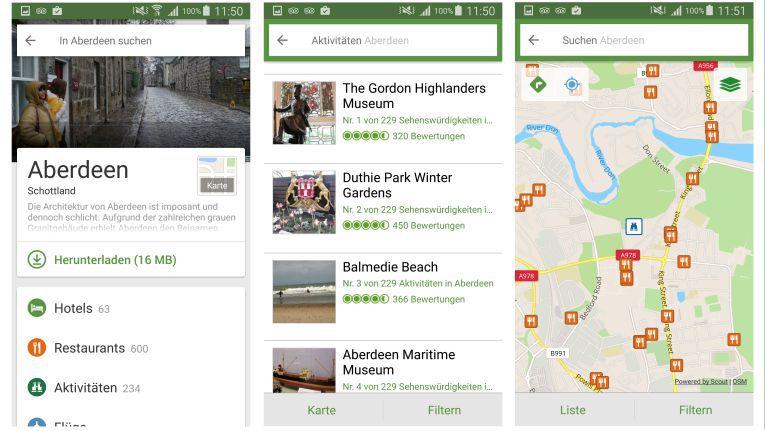 Mit Tripadvisor stehen dem Reisenden hunderte Empfehlungen und Reviews zu Restaurants, Hotels und Sehenswürdigkeiten überall zur Verfügung.