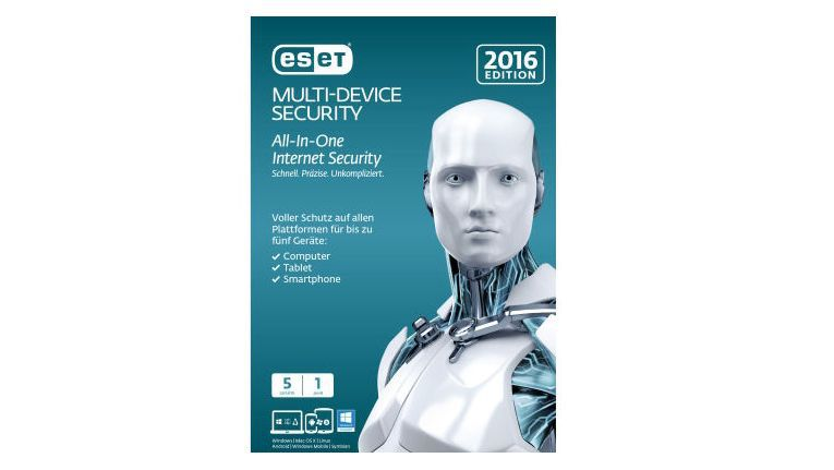 Eset Multi Device Security Software für Windows-PC, Tablet, Mac, iPad, iPhone und Android Smartphone.