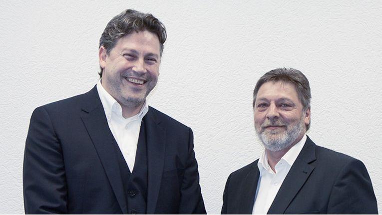 Die Vorstände der Kiwiko eG, Michael Illig (links) und Matthias Jablonski, freuen sich über 38 alte und neue Partner.