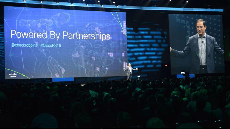 """Cisco-CEO Chuck Robbins: """"In Zeiten der digitalen Transformation und der damit einhergehenden rapiden Veränderungen komme es uns umso mehr auf Vertrauen und starke Partnerschaften an."""""""