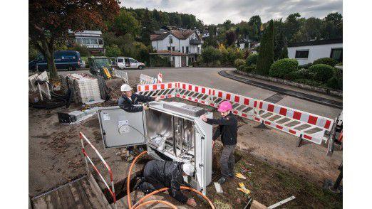 Breitbandausbau bei der Deutschen Telekom.