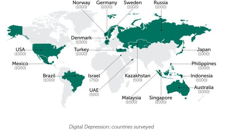 In diesen 18 Ländern hat Kaspersky die Social Media-Nutzer befragt