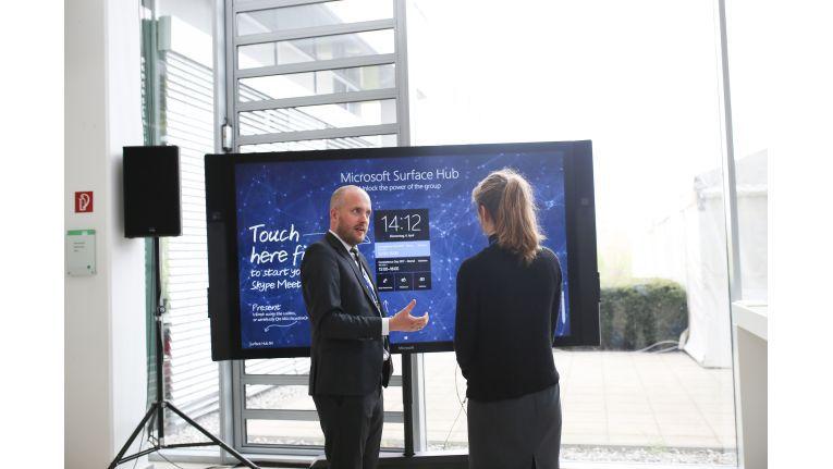 Collaboration war eines der ganz großen Themen auf den Competence Days: Besucher konnten alle Lösungen selbst testen, vom Digital Workplace bis hin zu High-End-Conference-Lösungen.