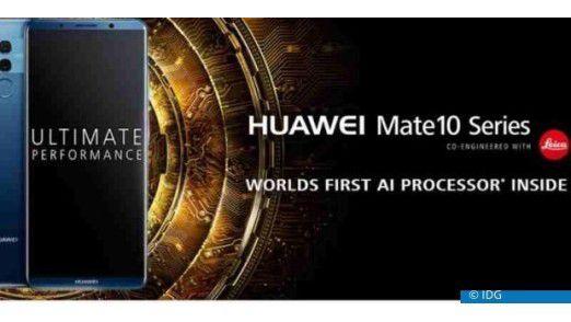 """Das Huawei Mate 10 Pro enthält das neuartige Chipset """"Kirin 970"""", welches dem Smartphone Künstliche Intelligenz verleihen soll."""