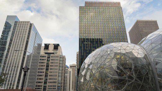 Amazons bisheriger Stammsitz in Seattle im US-Bundesstaat Washington.