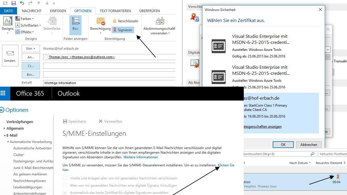 E Mails Digital Signieren Outlook 2013 E Mails