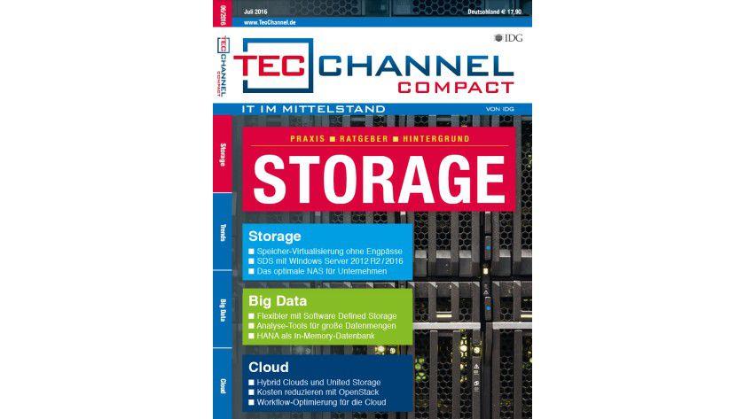 160 Seiten Grundlagen, Praxis und Ratgeber im neuen TecChannel Compact Storage.