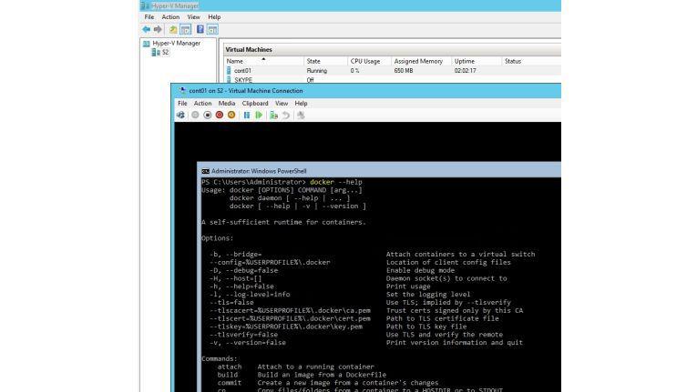 Windows Server 2016 bietet mit der Container-Technologie auf Basis von Docker massive Unterstützung für OpenSource.