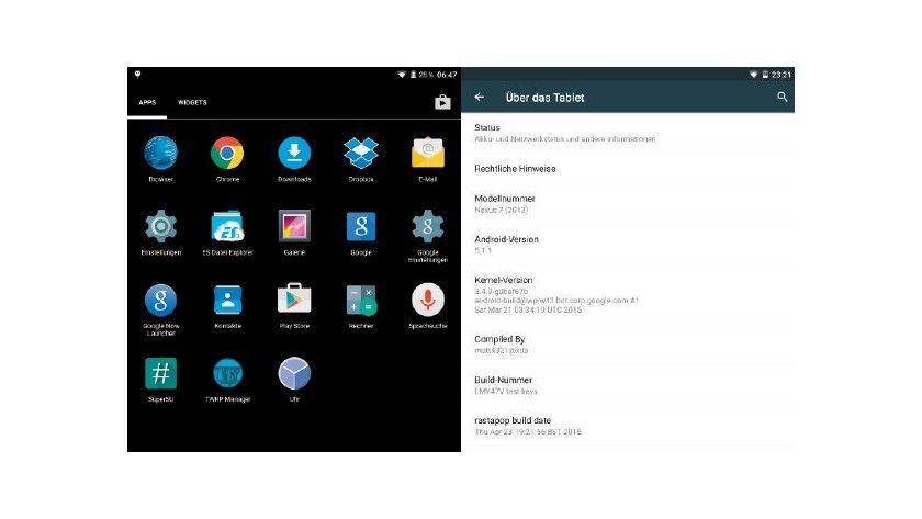 Das Aussehen von Rastapop erinnert an ein Retro-Design. Trotzdem läuft Rastapop mit Android 5.