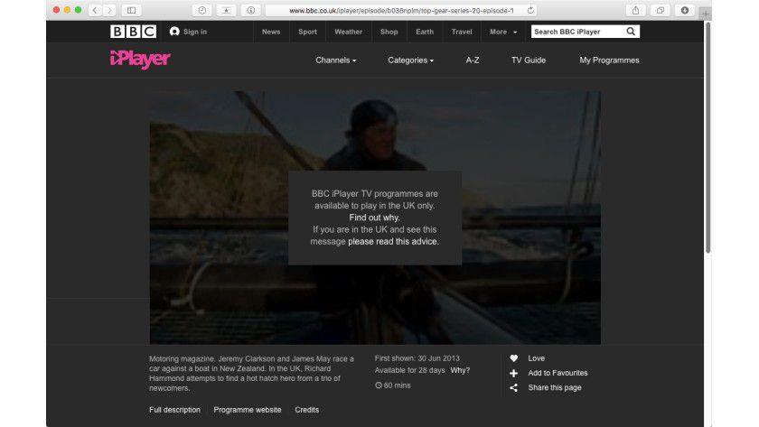 TV-Sendungen werden oft für Surfer aus anderen Ländern geblockt.