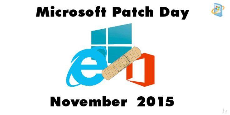 Patch-Day im November mit 12 Bulletins