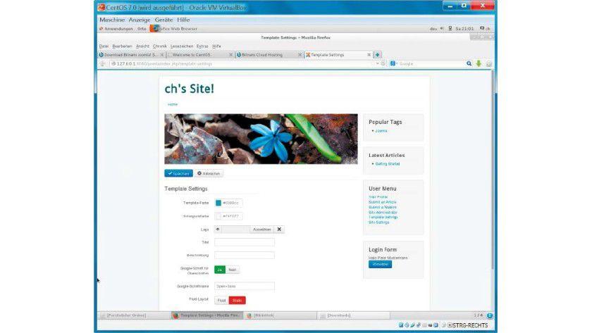 Ist Joomla virtuell installiert, fahren Sie mit der Konfiguration des CMS fort und füllen die Seiten mit Ihren Inhalten.