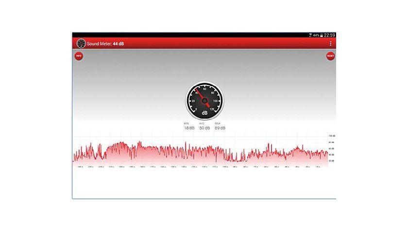 """Die App """"Schallmessung"""" testet und misst die Lautstärke Ihres PCs."""