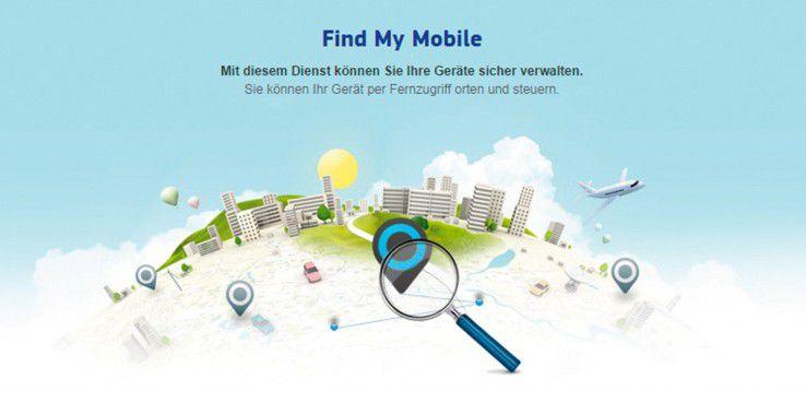 """Unterstützt Ihr Samsung Smartphone """"Find My Mobile"""" und ist der Dienst aktiviert, lässt sich darüber der Sperrbildschirm deaktivieren."""