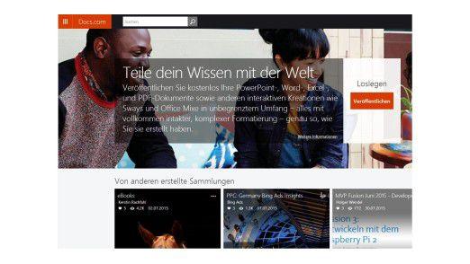 Mit docs.com können Sie Office-Dokumente, auch Sway-Präsentationen mit anderen Anwendern schnell und einfach teilen