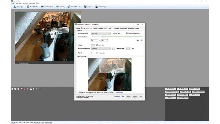 Zahlreiche Freeware-Tools lassen hier eine automatische Bewegungserkennung zu.
