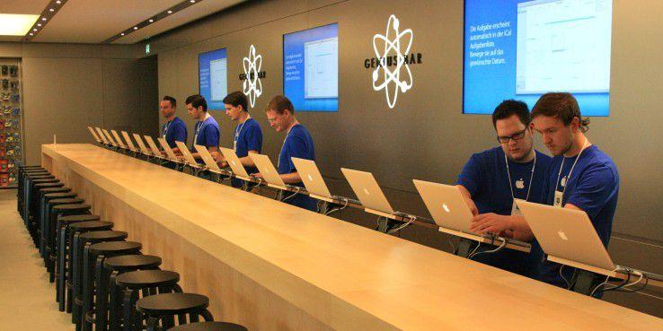 Apple-Hotline und Geniuses im Store helfen bei den meisten Problemen.