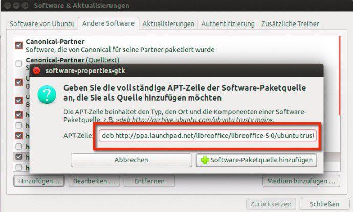 Passende Paketquelle angeben und Updates werden automatisch im System berücksichtigt.