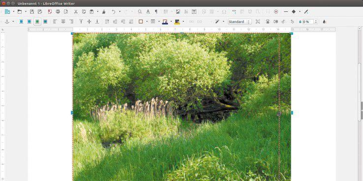 """Die neue Funktion """"Zuschneiden"""" ist direkt in den Office-Anwendungen erreichbar."""