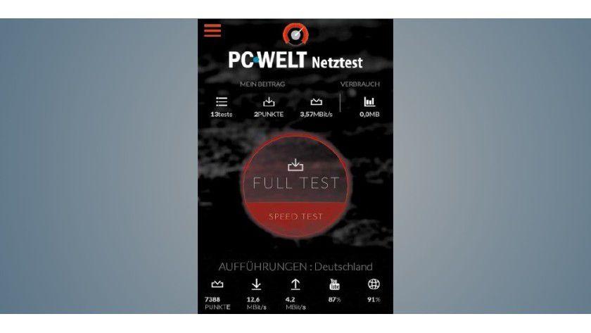 Die PC-WELT-App Netztest prüft Ihr LTE-Tempo. Für die schnelllsten Netze brauchen Sie ein passendes Smartphone.