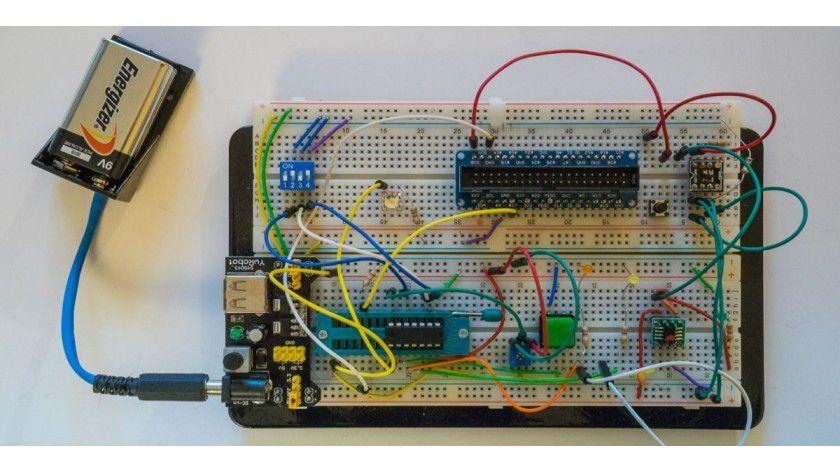 Testaufbau iSwitchPi auf Breadboard (ohne Pi)