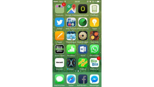 """Der Trick mit dem Ausleihfilm hat funktioniert, offenbar haben wir gerade iOS beim Freischaufeln vom Platz ertappt, denn die Facebook-App heißt plötzlich """"Aufräumen"""" und ist kurzzeitig deaktiviert."""