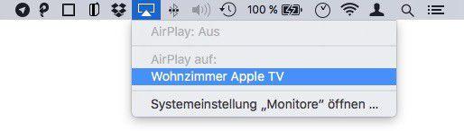 Bei Bedarf lässt sich der Macbook-Desktop sogar kabellos auf einen größeren Monitor legen.