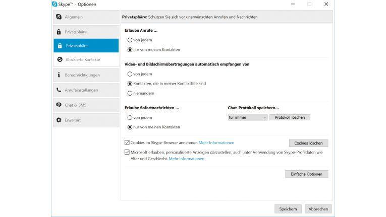 Skype Dateien Ordner