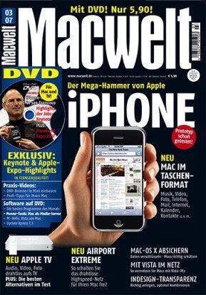 """Handy-Hysterie - Unsere Kollegen von der Macwelt feierten 2007 das iPhone als """"Mega-Hammer von Apple""""."""