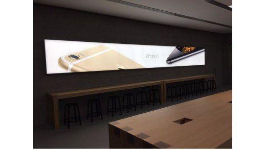 Apple Store in Hannover: Auch dort stehen Tische von Dula.