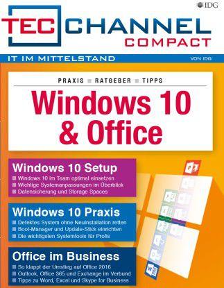 160 Seiten Windows-10- / Office-Praxis und -Ratgeber im neuen TecChannel Compact November 2016.