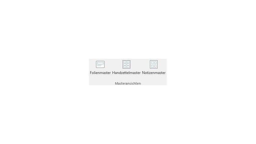 Über Ansicht/Folienmaster schalten Sie in PowerPoint in die Masteransicht um.