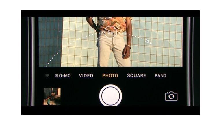 """Neu für das iPhone 7 Plus ist der Modus """"Portrait"""". Es ermöglicht Aufnahmen mit unscharfen Hintergrund."""