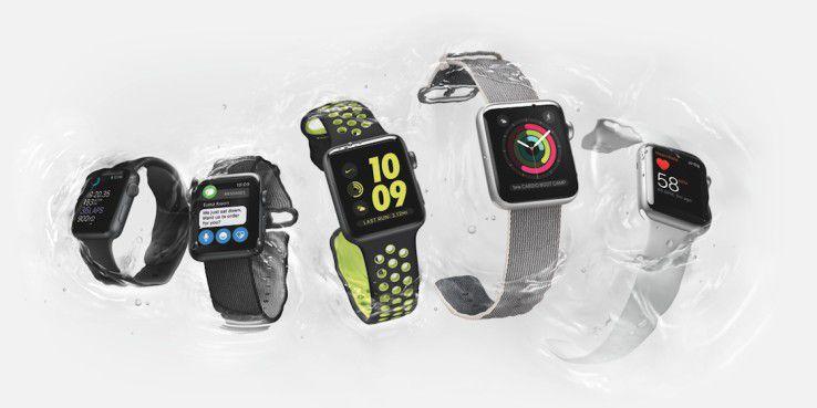 Die Apple Watch Series 2 ist wasserdicht.