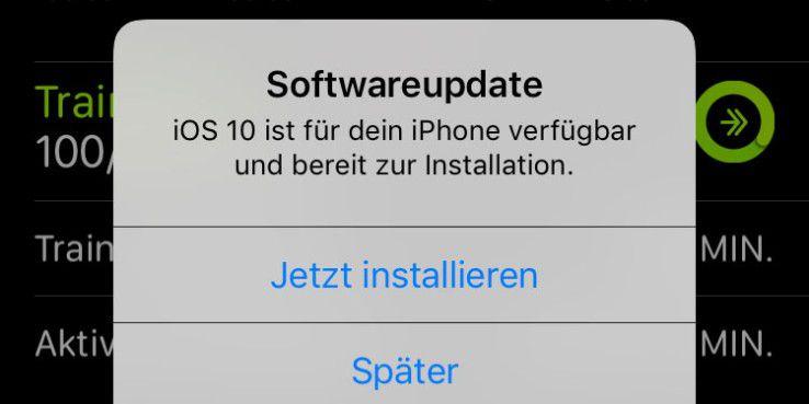 iOS 10 ist fertig für das iPhone.