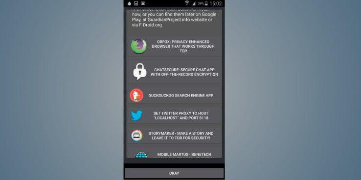 Neben der Browser-Anwendung Orfox hat Guardianproject noch weitere Applikationen parat.