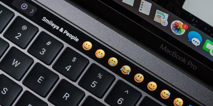 Nie konnten Sie schneller auf Emojis zugreifen als mit der Touch Bar.