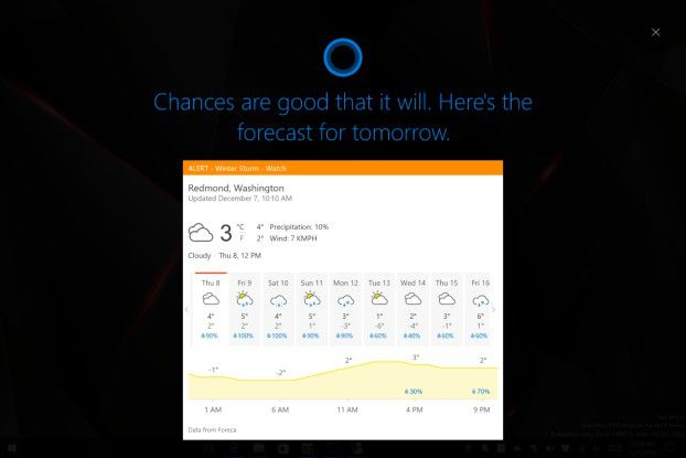 Cortana besitzt nun einen Full-Screen-Modus